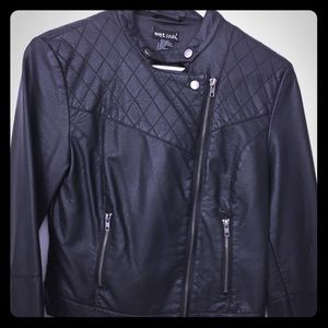 Wet Seal Faux Leather Motorcycle Jacket Sz M